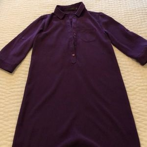 The Limited purple shirt dress